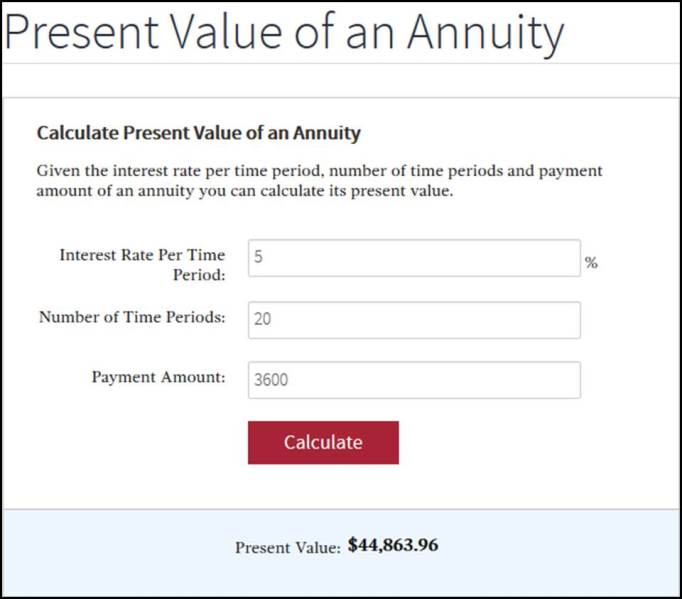 Present Value Calculator Help