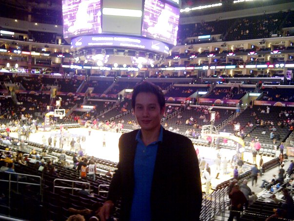 2012 Pic of Aaron at Staples Center