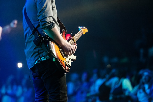 Picture of guitarist at concert