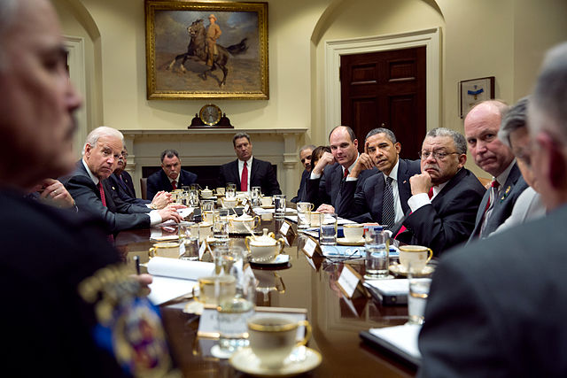 Pic of meeting led by Obama