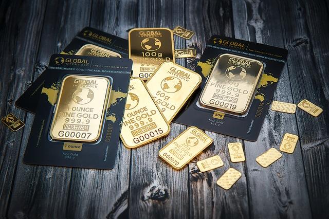 Gold bars representing money