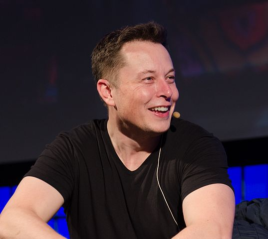 Elon Musk at conference