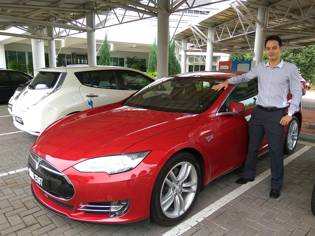 mr-stingy with Tesla car